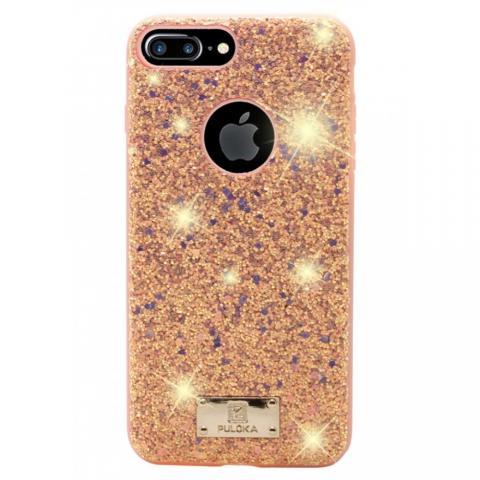 Чехол Puloka Shiny Texture для iPhone 7 Plus/8 Plus Pink