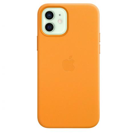 Чехол Leather Case with MagSafe для iPhone 12 Mini - California Poppy