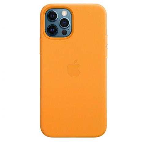 Чехол Leather Case with MagSafe для iPhone 12/12 Pro - California Poppy