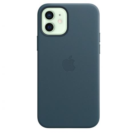Чехол Leather Case with MagSafe для iPhone 12 Mini - Baltic Blue