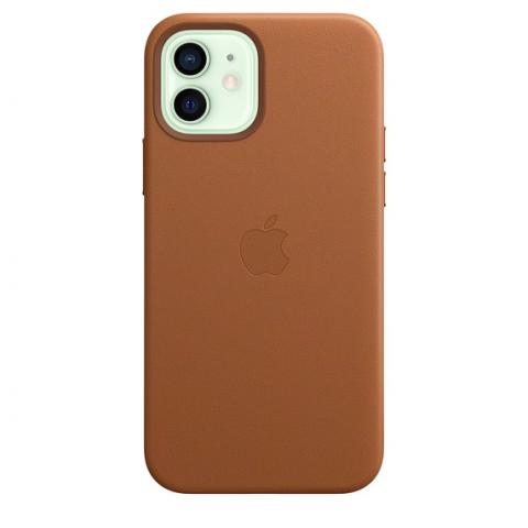Чехол Leather Case with MagSafe для iPhone 12 Mini - Saddle Brown