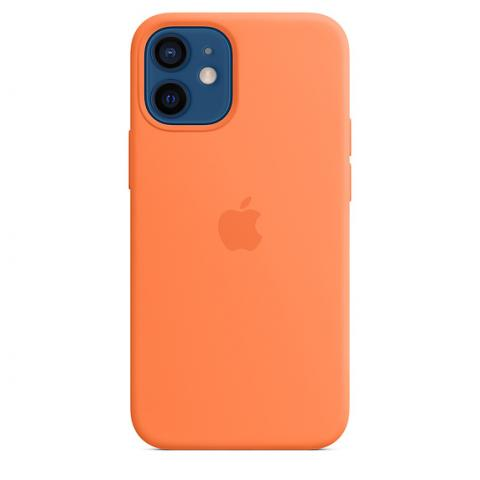 Silicone Case with MagSafe для iPhone 12 Mini - Kumquat