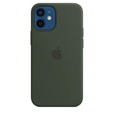 Silicone Case with MagSafe для iPhone 12 Mini - Cyprus Green