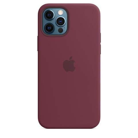 Silicone Case with MagSafe для iPhone 12 Pro Max - Plum