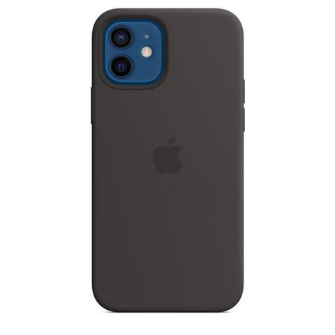 Silicone Case with MagSafe для iPhone 12 Mini - Black