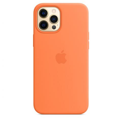 Silicone Case with MagSafe для iPhone 12 Pro Max - Kumquat