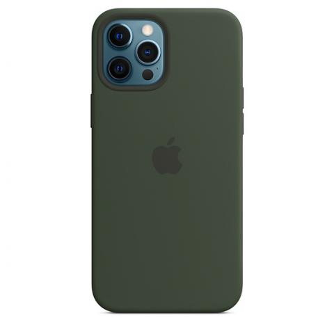 Silicone Case with MagSafe для iPhone 12 Pro Max - Cyprus Green