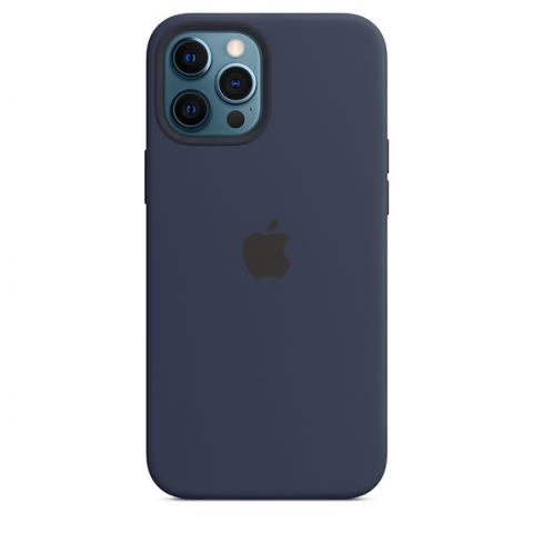 Silicone Case with MagSafe для iPhone 12/12 Pro - Deep Navy