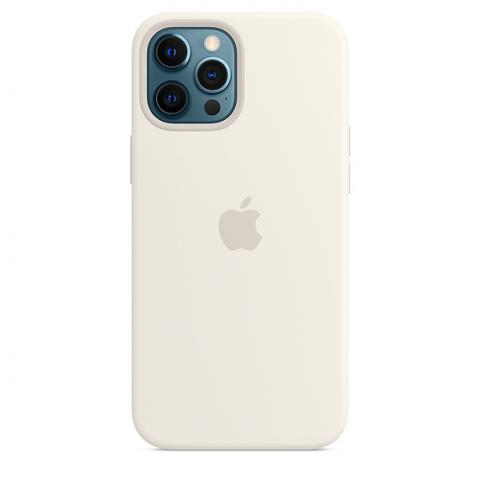 Silicone Case with MagSafe для iPhone 12/12 Pro - White