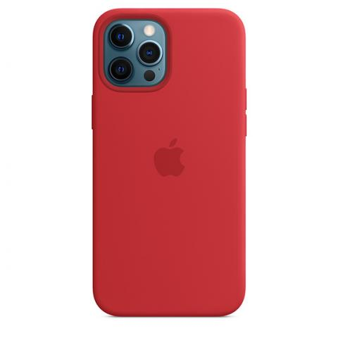 Silicone Case with MagSafe для iPhone 12/12 Pro - Red