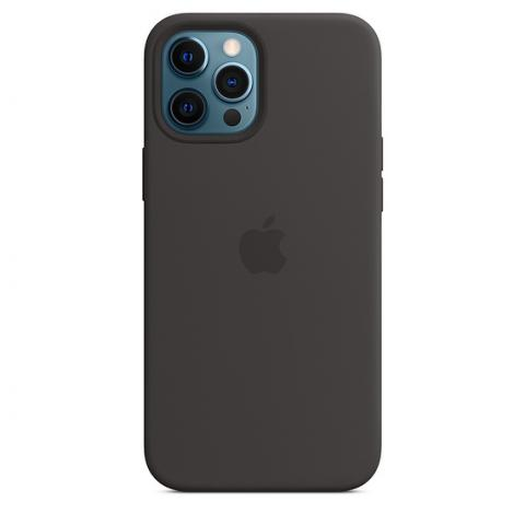 Silicone Case with MagSafe для iPhone 12 Pro Max - Black
