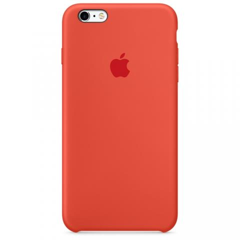 Apple Silicone Case для iPhone 5/5S/SE Orange (Hi-Copy)