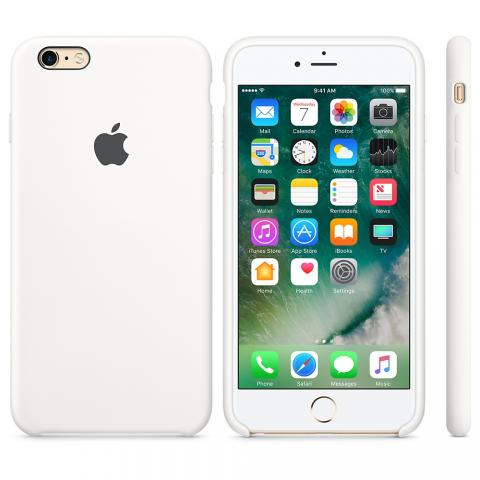 Apple Silicone Case for iPhone 6/6s - white (Hi-Copy)