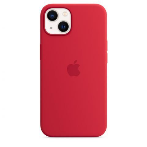 Силиконовый чехол для iPnone 13 Mini - Red