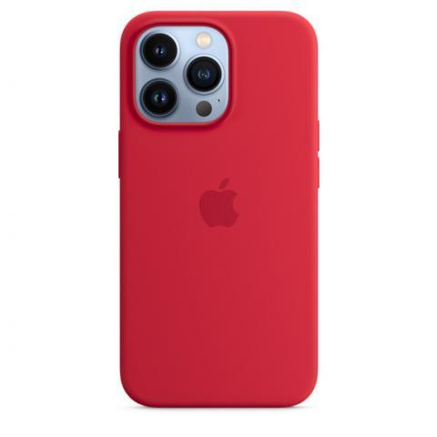 Силиконовый чехол для iPnone 13 Pro Max - Red
