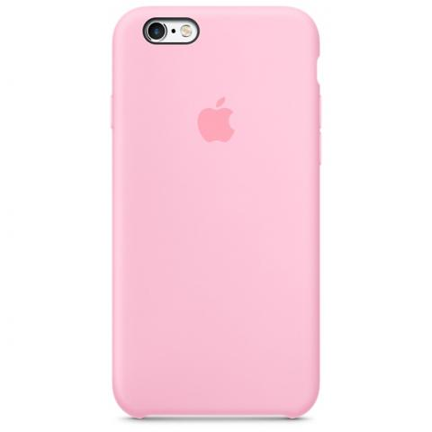 Apple Silicone Case для iPhone 5/5S/SE Pink (Hi-Copy)