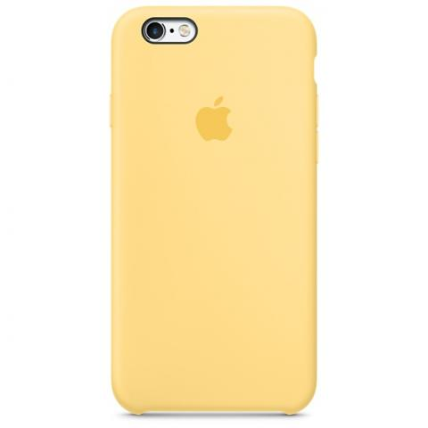 Apple Silicone Case для iPhone 5/5S/SE Yellow (Hi-Copy)