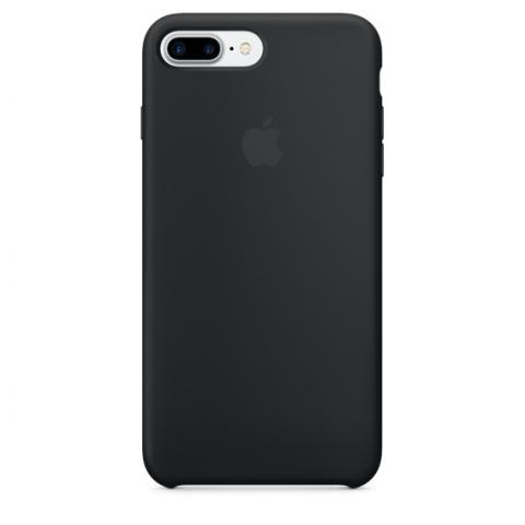 Apple Silicone Case for iPhone 7 Plus - Black (Hi-Copy)