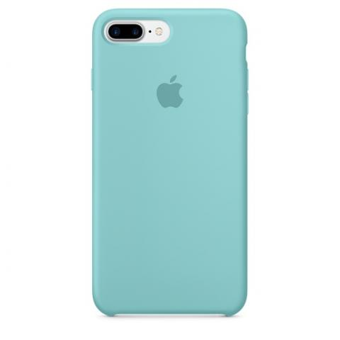 Apple Silicone Case for iPhone 7 Plus - Sea Blue (Hi-Copy)