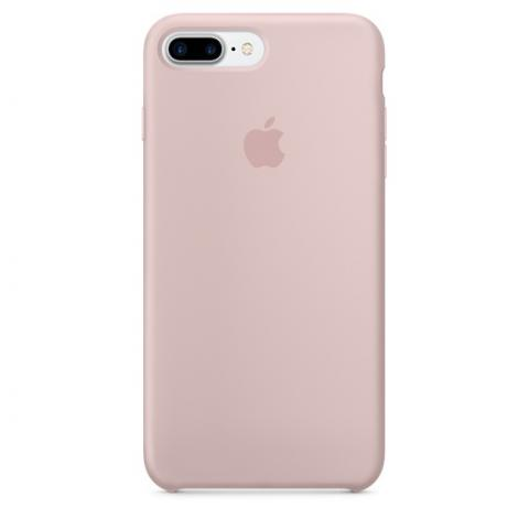 Apple Silicone Case for iPhone 7 Plus - Light Pink (Hi-Copy)