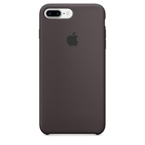 Apple Silicone Case for iPhone 7 Plus - Cocoa (Hi-Copy)