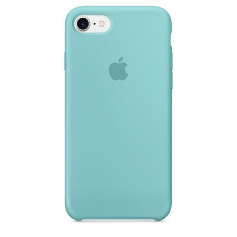 Apple Silicone Case for iPhone 7 - Blue (Hi-Copy)