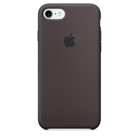 Apple Silicone Case for iPhone 7 - Dark Brown (Hi-Copy)