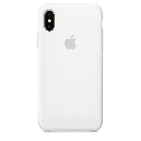 Apple Silicone Case for iPhone X - White (Hi-Copy)