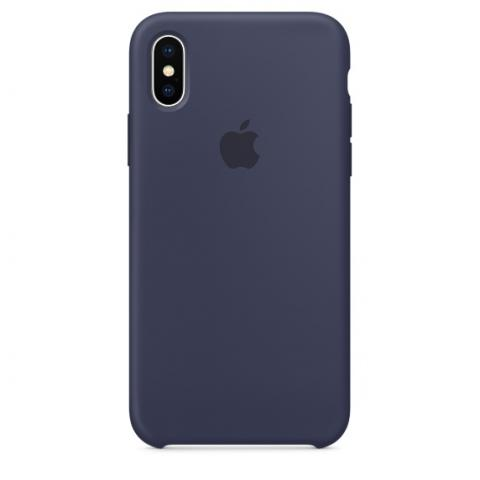 Apple Silicone Case for iPhone X - Midnight Blue (Hi-Copy)