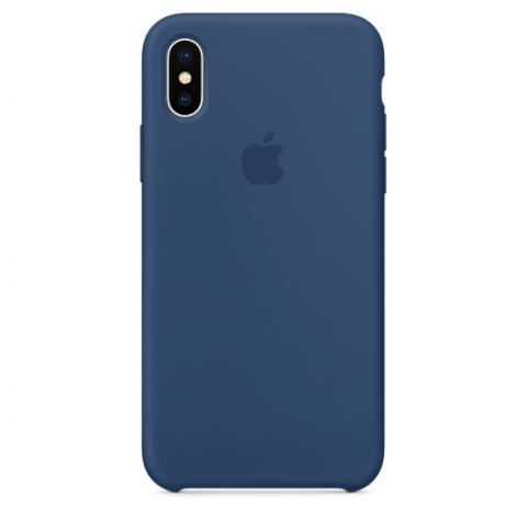 Apple Silicone Case для iPhone XS Max - Ocean Blue (Hi-Copy)