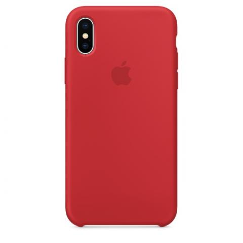Apple Silicone Case for iPhone X - Red (Hi-Copy)