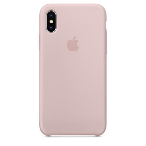 Apple Silicone Case для iPhone XS Max - Pink Sand (Hi-Copy)