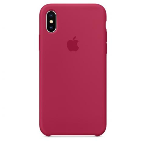 Apple Silicone Case for iPhone X - Red Rose (Hi-Copy)