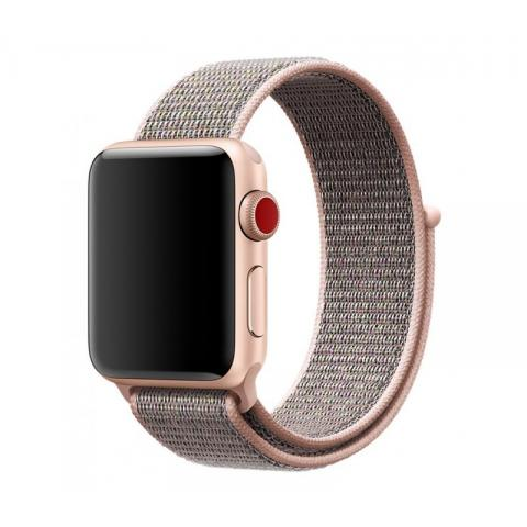 Ремешок Sport Loop Band for Apple Watch 38/40 mm Pink Sand