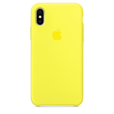 Apple Silicone Case for iPhone X - Yellow (Hi-Copy)