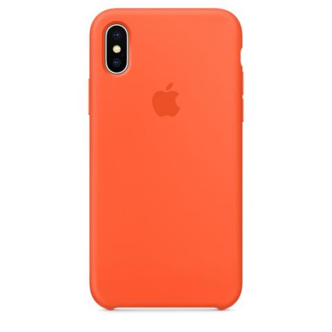 Apple Silicone Case for iPhone X - Orange (Hi-Copy)