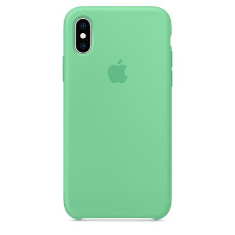 Apple Silicone Case for iPhone X/XS - Spearmint (Hi-Copy)