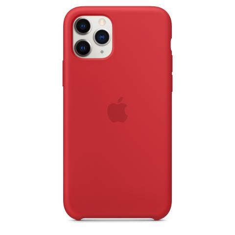 Apple Silicone Case для iPhone 11 Pro Max - Red (Hi-Copy)