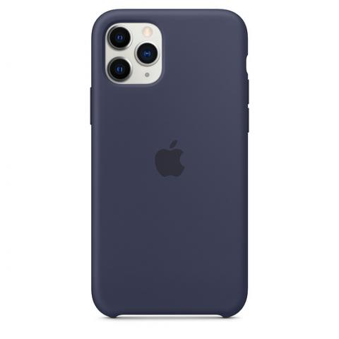 Apple Silicone Case для iPhone 11 Pro Max - Midnight Blue (Hi-Copy)