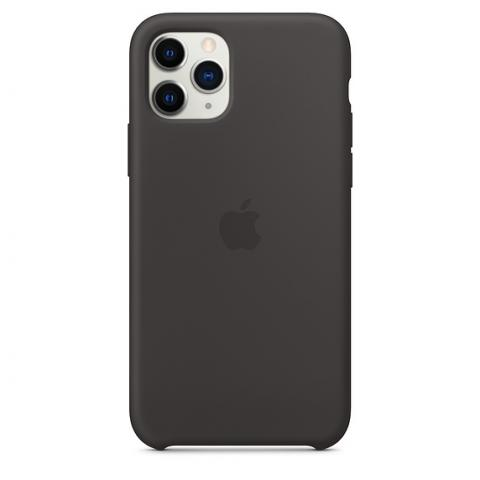Apple Silicone Case для iPhone 11 Pro Max - Black (Hi-Copy)