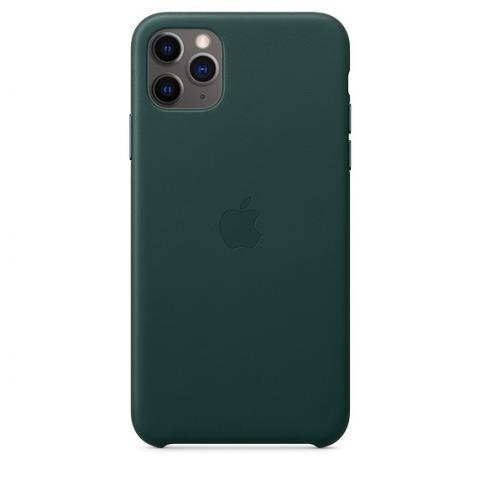 Кожаный чехол Leather Case Forest Green для iPhone 11 Pro Max