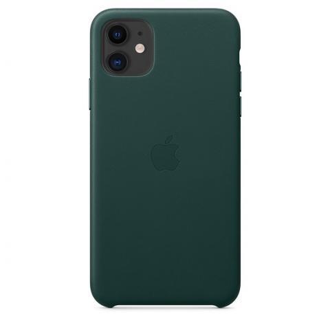 Кожаный чехол Leather Case Forest Green для iPhone 11