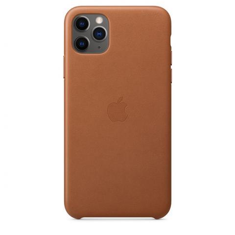 Кожаный чехол Leather Case Saddle Brown для iPhone 11 Pro Max