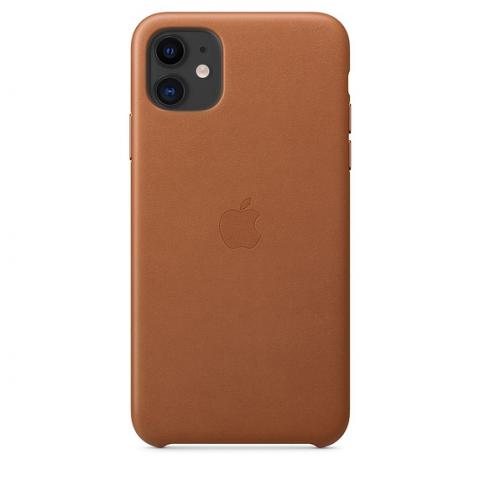 Кожаный чехол Leather Case Saddle Brown для iPhone 11