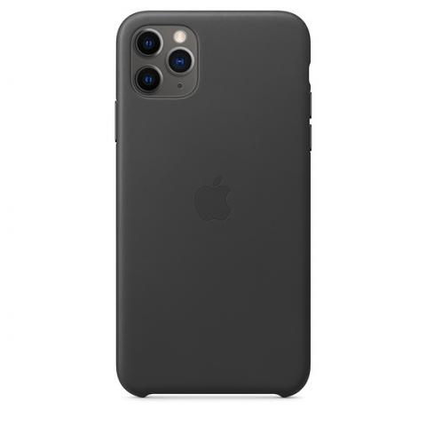 Кожаный чехол Leather Case Black для iPhone 11 Pro Max