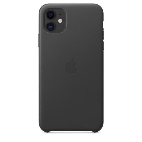 Кожаный чехол Leather Case Black для iPhone 11