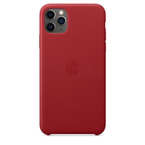 Кожаный чехол Leather Case Red для iPhone 11 Pro Max