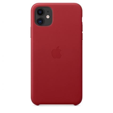 Кожаный чехол Leather Case Red для iPhone 11