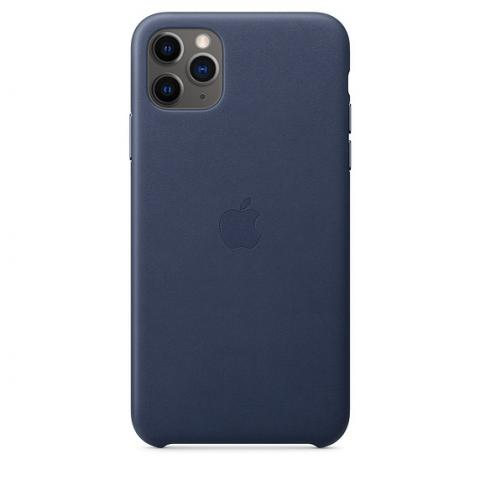 Кожаный чехол Leather Case Midnight Blue для iPhone 11 Pro Max