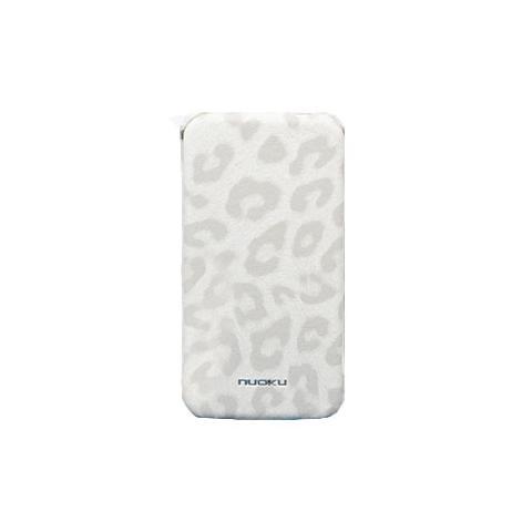 Чехол Nuoku Leopard для iPhone 4/4s - белый